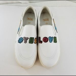 ASH Jess S Yes Love Slip On White Sneakers Sz 39